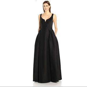Halston Heritage Notch Neck Silk Faille Gown NWT